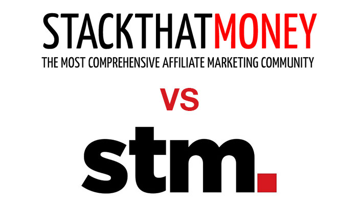 StackThatMoney logo vs STM Forum logo